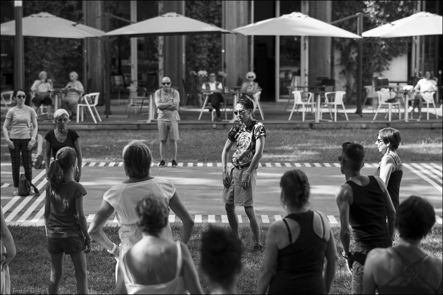 Leçon de danse publique par Stephen Thompson et Ondrej Vidlar, Montpellier Danse, 2015